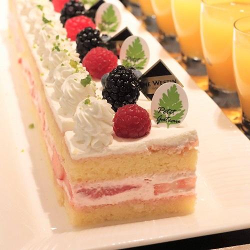 ザテラス|ウェスティンホテル東京のランチブッフェ ショートケーキ