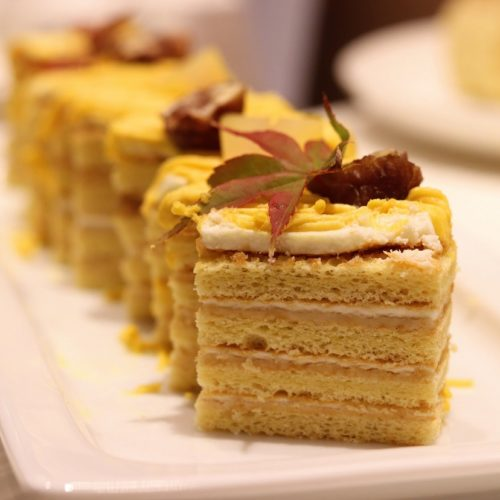 一休掲載|エトワール(第一ホテル東京ホテル)のビュッフェ|南瓜と栗のモンブランケーキ