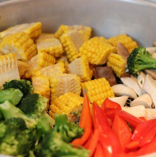 ハプナ(品川プリンスホテル)のビュッフェのスチーム野菜