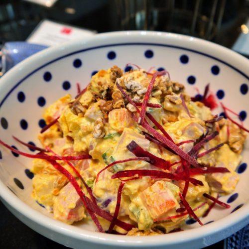 一休掲載|ヴェンタリオ(マンダリンオリエンタル東京)のビュッフェ| モルタデッラハムのサラダ