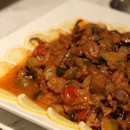 プリンスマルシェ(新宿プリンスホテル)のビュッフェ|イイダコの冷製トマト煮