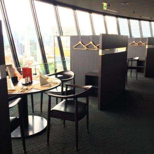 THE Sky(ホテルニューオータニ)のビュッフェの席4