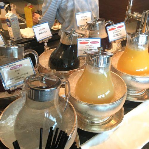 シェフズライブキッチン(インターコンチネンタル東京ベイ)のビュッフェのドリンクコーナー