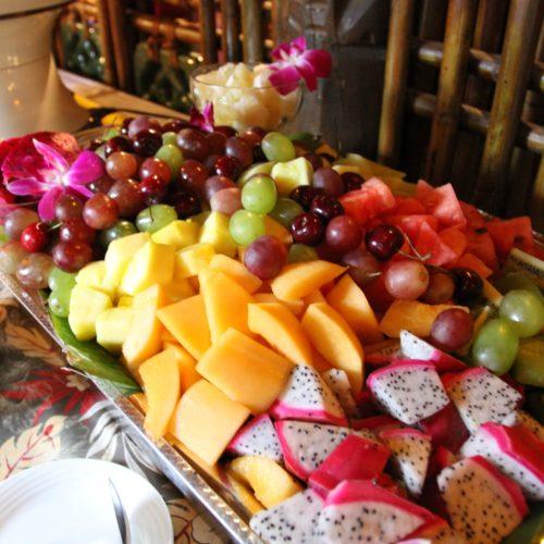 トレーダーヴィックス(ホテルニューオータニ)のビュッフェのフルーツ