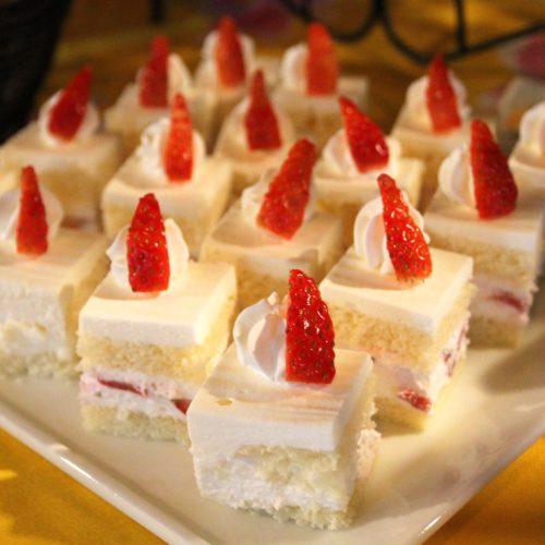 トレーダーヴィックス(ホテルニューオータニ)のビュッフェのショートケーキ