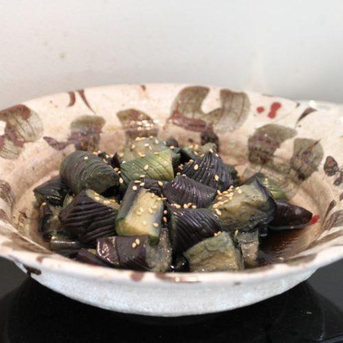 おんぼらあと(ハイアットリージェンシー東京)のビュッフェの茄子の煮浸し
