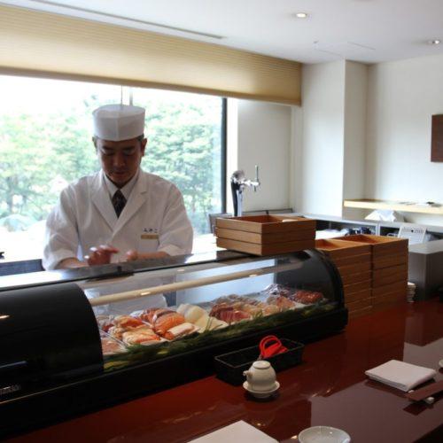 おんぼらあと(ハイアットリージェンシー東京)のビュッフェの寿司バー