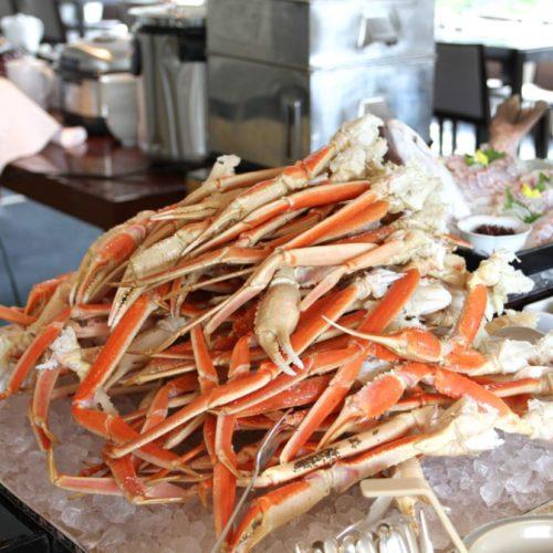 おんぼらあと(ハイアットリージェンシー東京)のビュッフェのズワイ蟹