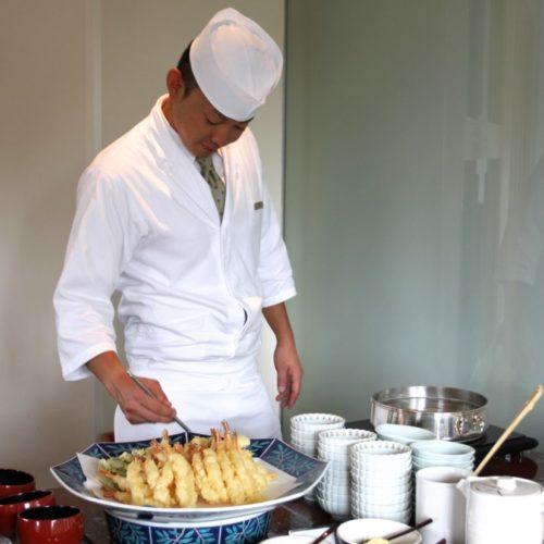 おんぼらあと(ハイアットリージェンシー東京)のビュッフェの天ぷら1