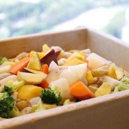 タワービュッフェ(ホテルニューオータニ)のビュッフェの蒸し野菜