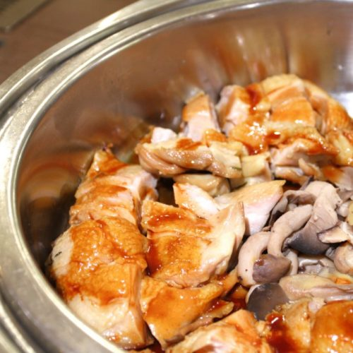 バイエルン(サンシャインシティプリンスホテル)のビュッフェの鶏肉コンフィ