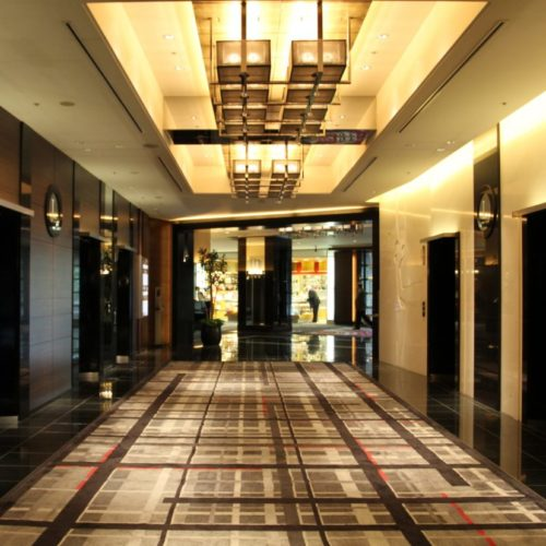 THE Sky(ホテルニューオータニ)のビュッフェのエレベーターホール