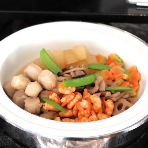 おんぼらあと(ハイアットリージェンシー東京)のビュッフェの野菜の炊き合わせ