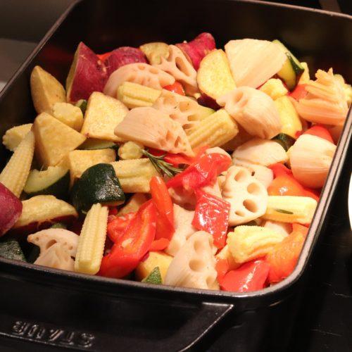 ベルテンポ(ホテルメトロポリタンエドモント)のビュッフェの彩り野菜のオーヴン焼