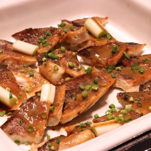 ベルテンポ(ホテルメトロポリタンエドモント)のビュッフェの白身魚の柚子味噌焼