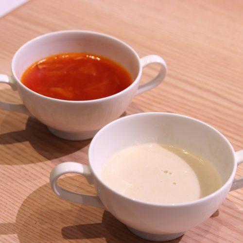 ベルテンポ(ホテルメトロポリタンエドモント)のビュッフェのスープ