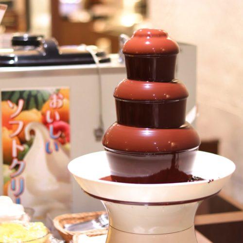 バイエルン(サンシャインシティプリンスホテル)のビュッフェのチョコレートファウンテン