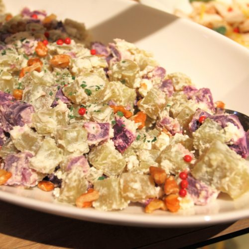 カフェ(ハイアットリージェンシー東京)のビュッフェのさつまいもとリコッタチーズのサラダ