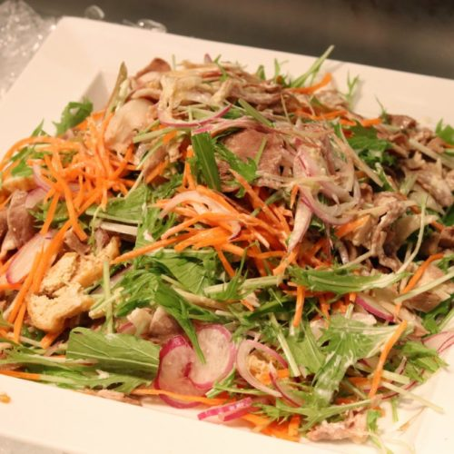 シェフズライブキッチン(インターコンチネンタル東京ベイ)のビュッフェの豚しゃぶサラダ