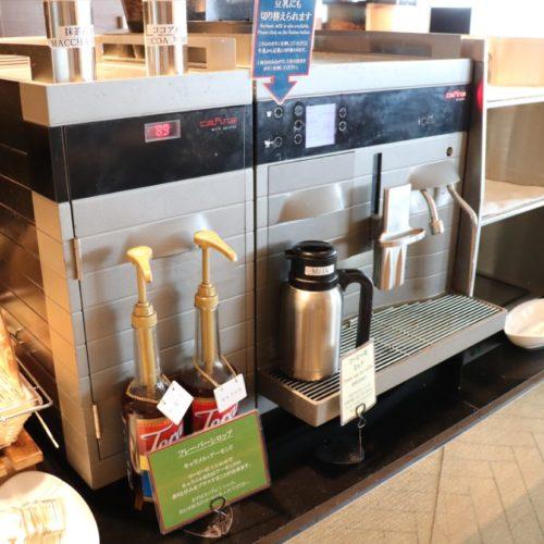 シェフズライブキッチン(インターコンチネンタル東京ベイ)のビュッフェのコーヒーマシーン