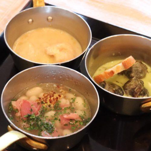 サール(帝国ホテル)のビュッフェの小鍋料理