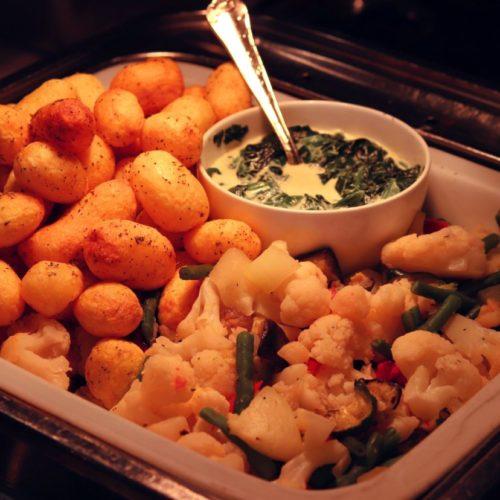 サール(帝国ホテル)のビュッフェの温野菜