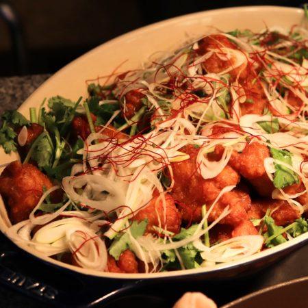 ザクロ(グランドプリンスホテル新高輪)のビュッフェの鶏のから揚げ