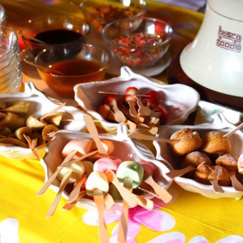 トレーダーヴィックス(ホテルニューオータニ)のビュッフェのチョコレートファウンテン