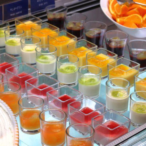 スクエアダイニング(エクセルホテル東急)のビュッフェのグラスデザート