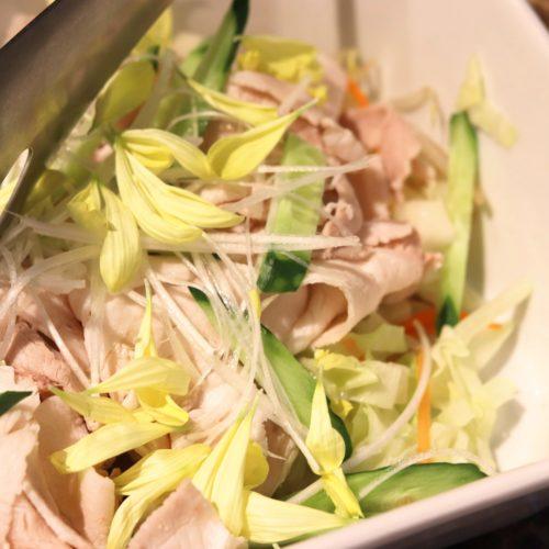 SAI(ミレニアム三井ガーデンホテル東京)のビュッフェの豚シャブサラダ
