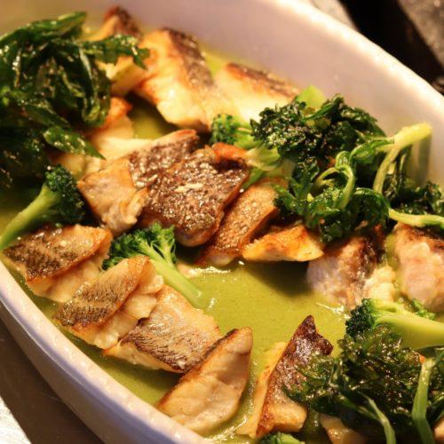 ラパランツァ(第一ホテルアネックス)のビュッフェの魚のポワレ