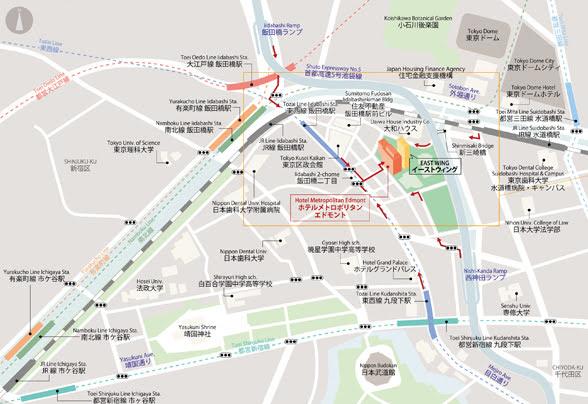 ベルテンポ(ホテルメトロポリタンエドモント)のビュッフェのアクセスマップ