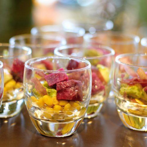 シースケープ(ヒルトン東京お台場)のビュッフェのグラスサラダ