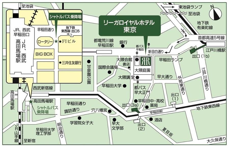 フェリオ(リーガロイヤルホテル東京)のビュッフェのアクセスマップ