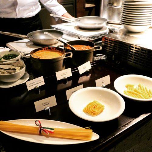 カフェ(ハイアットリージェンシー東京)のビュッフェのパスタ