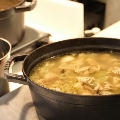 一休掲載|武藏(浅草ビューホテル)のビュッフェ|もつ煮込み鍋