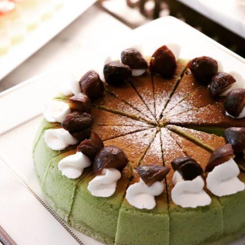 ポルト(東京プリンスホテル)のビュッフェの抹茶のシフォンケーキ