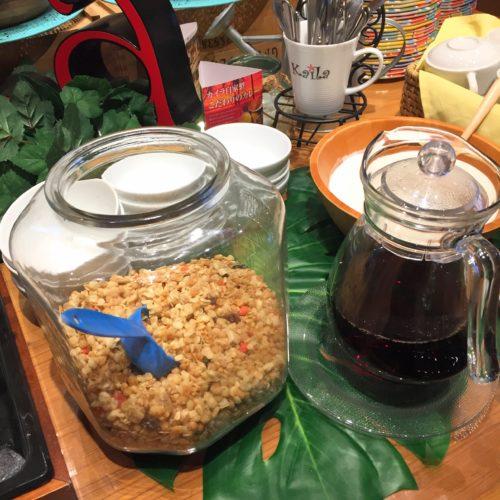 カイラの食べ放題のグラノーラ