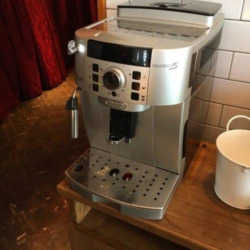 銀座のシュラスコ食べ放題のコーヒーメーカー
