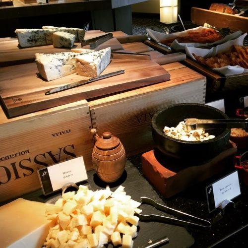 ANAインターコンチネンタルホテル東京のビュッフェのチーズ各種