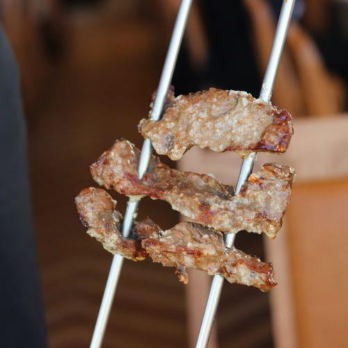 銀座のシュラスコ食べ放題のガーリックステーキ