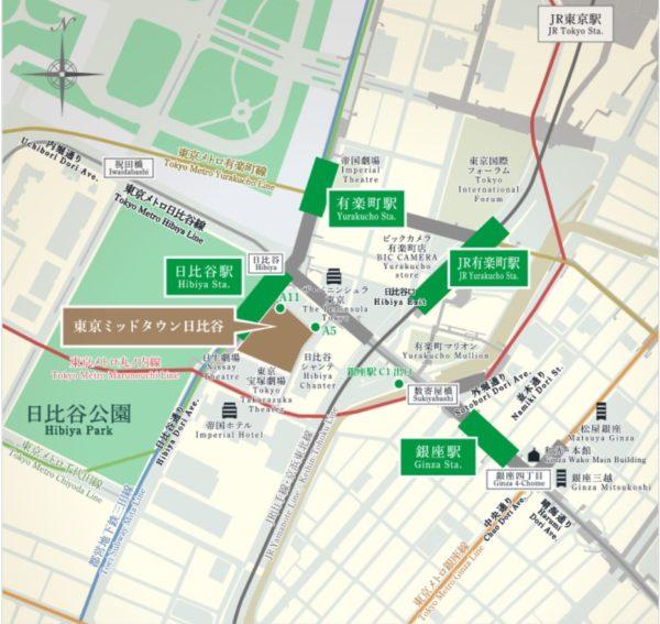 東京ミッドタウン日比谷の地図