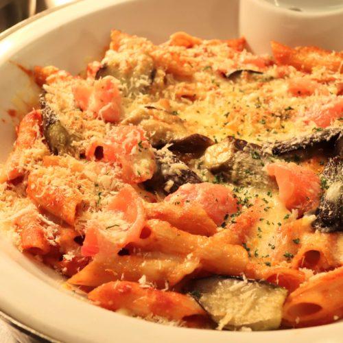 茄子とチーズのマカロニ