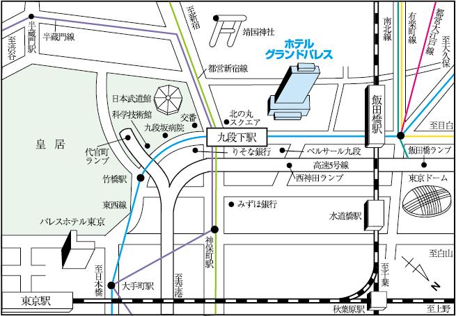 ホテルグランドパレス|地図