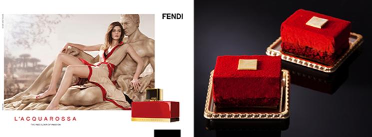 FENDIとのコラボケーキ