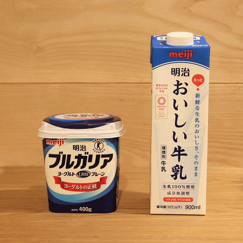 牛乳とヨーグルト