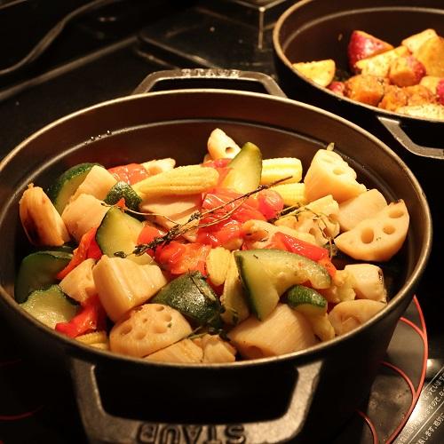 ザテラス|ウェスティンホテル東京のランチブッフェ 季節野菜のロースト