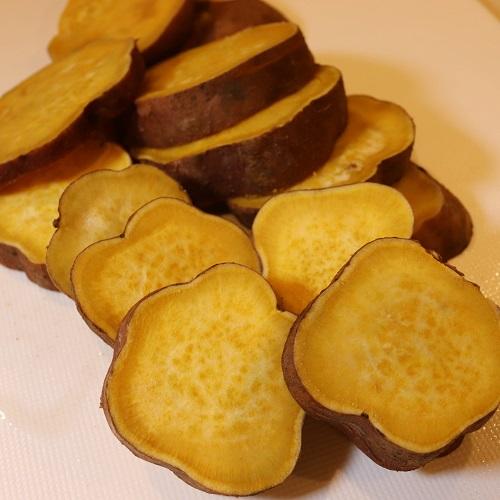 レンジで加熱した安納芋