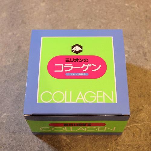 ミリオンのコラーゲンの外箱