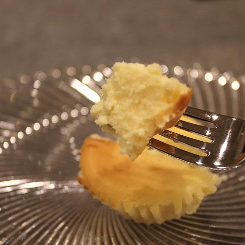 半熟チーズケーキ断面